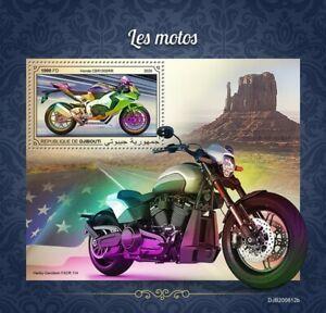 Djibouti Motorcycles Stamps 2020 MNH Honda CBR1000RR Harley Davidson 1v S/S