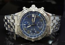 BREITLING Chronomat 39mm , Automatic, Stainless Steel, A13352, Blue Arabic Dial