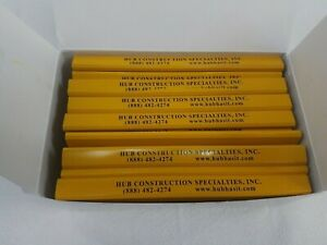 Flat Yellow Wooden Yellow Carpenter Pencils-72 Count Advertising Imprinted 7""