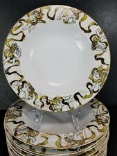 American Atelier Heavenly Hosts 3373 Soup Bowls 4pc Lots Gold Cherubs Angels