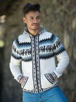 Peruvian Alpaca Wool Zippered Hoodie Sweater Jacket