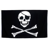 Fahne Pirat mit Knochen Querformat 90 x 150 cm Totenkopf Hiss Flagge