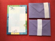 Vintage Hallmark Dragonfly Butterfly Stationery Set Letter Pad Memo Envelopes