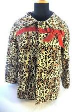 Lucky 13 Women's Sz L Leopard Rockabilly Psychobilly Jacket Blazer 3/4 Sleeve