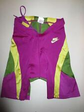 Cuissard NIKE triathlon nylon short cycling made in UK violet L