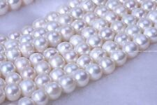 wholesale 5 strands 8-8.5mm white round freshwater pearl beads nature