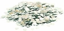 Silver Sparkle Heart Wedding Confetti Table Decoration