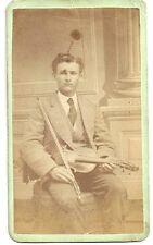 CDV  Violin Player – by L G Beecher  - Binghamton NY c1870s