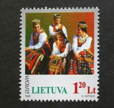 Europa, National festivals stamp, song, festival, Lithuania, SG ref: 675, MNH