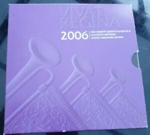 2006 QUEENS 80TH BIRTHDAY FIVE 5 POUND COIN IN ROYAL MINT PACK