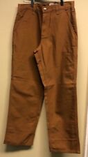 Carhartt 383-51 Duck Brown Canvas Dungaree Fit Work Pants 30x30
