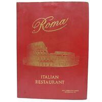 Vintage Table Menu Roma Italian Restaurant Washington DC 80s