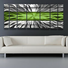 Green Modern Contemporary Metal Wall Sculpture Big Art Work Painting Home Decor