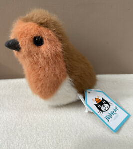 NEW Jellycat Bridling Robin Soft Toy Comforter Quirky Red Breast Xmas Bird BNWT