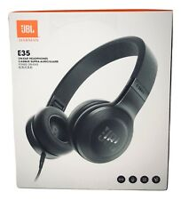 JBL E35 On Ear Headphones Black.Foldable, 1 Button Remote With Microphone