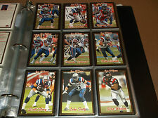 2005 JOGO CFL COMPLETE SET (200) WITH 10 CARD VARIATIONS GOLD SET
