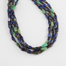 NATIVE AMERICAN LAPIS & TURQUOISE NECKLACE BY LENORE AND OWEN CHEYKAYCHI