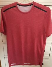 Layer 8 Red Mens Qwick Dry Athletic Shirt Top T-shirt Size Large L Euc