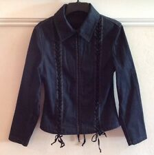 MARIELLA BURANI DARK DENIM JEAN JACKET - SIZE MEDIUM, BEAUTIFUL & UNIQUE