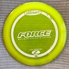 Used Discraft Z Force, 173g-Oop stamp