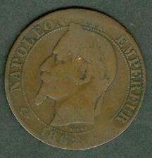 MONNAIE  FRANCE   NAPOLEON III   5 CTS    ATELIER  BORDEAUX       271