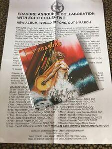 Erasure -  World Beyond 10 Track  UK Promo CD *With Press Sheet* NEW