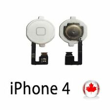 New Home Button Replacement Part With Flex Cable For iPhone 4GSM White