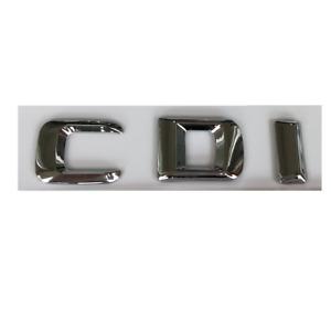 Chrome Silver 3D Font Letters C D I Trunk Emblems Badges for Mercedes Benz CDI