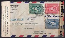 Haiti 1943 War Time Double Censored In Haiti And Us Air Mail Cover Port Au Princ