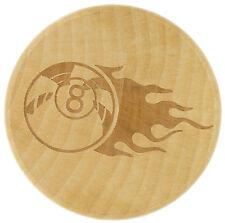 "2.3"" 3 Piece Real Wood Custom Engraved Grinder Spice Herb Crusher 8Ball  Design"