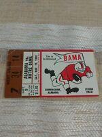 Vintage Alabama Crimson Tide Notre Dame 1980 Football Ticket Stub Legion Field