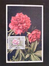 AUSTRIA MK 1964 1146 WIG BLUMEN PFINGSTROSE MAXIMUMKARTE MAXIMUM CARD MC c6516