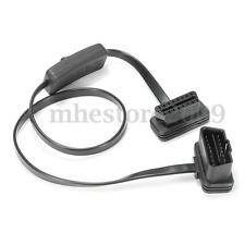 16 Pin M to F With Switch OBD2 Cord Extension Cable Adapter Connector On/Off