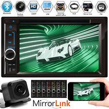 Car Multimedia FM AM Radio DVD CD Player Bluetooth 2Din 6.2'' HD RearView Camera