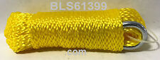 """(1) Yellow Hollow Braided 1/4"""" in x 50' ft Boat Marine Anchor Line Tie-Down Rope"""