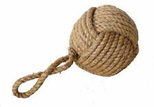 Nautical Home Decorative NWT Jute Rope Knot Heavy Door Stopper Handcrafted Gift