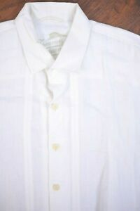 Tommy Bahama Linen SS Button Front Camp Shirt White Men's XXL