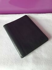 'EMBASSY' Gents' Grainy Matt Black Calf Leather Wallet & Passport Holder