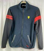 Scuderia Ferrari Puma Mens Black Red Long Sleeve Full Zip Jacket L