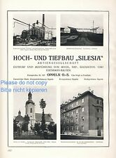 Civil engineering Silesia XXL 1925 German ad advertising Oppeln Opole ad +