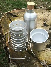 Genuine NOS Swiss Army Volcano Ranger Stove 3 Piece Set Aluminum Canteen Cooker