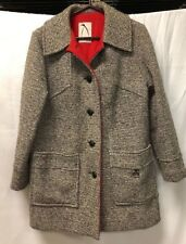 VTG Penguin Fashions Button Front Lined Winter Pea Coat Womens Sz SMALL