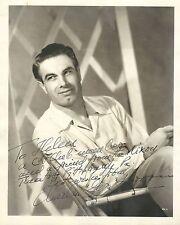 Charles Korvin signed 1940's vintage original photo / autograph Tarzan Zorro