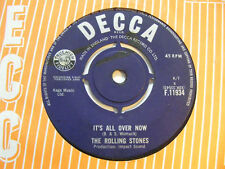 THE ROLLING STONES It's All Over Now   Decca 1964 UK Beat 7""