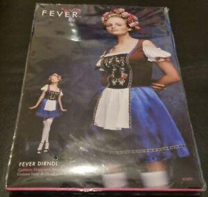 Ladies Fever Dirndl Bavarian Fancy Dress Costume - Large 16-18 - Smiffy's
