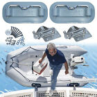 Boat Davits RBD100 for inflatable boats,on swim platform by WeaverMarine Indust.
