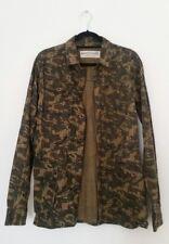 Anerkjendt Womens Green Shirt Size Medium Camouflage Utility Long Sleeve Chic