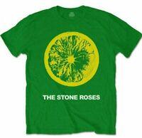 STONE ROSES Official T Shirt Lemon & Logo Green Unisex New Size S M L XL XXL