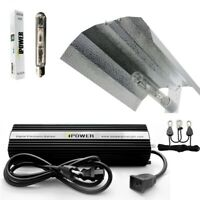 iPower 400W HPS MH Grow Light Kit Cool Tube Wing Reflector Hood Set