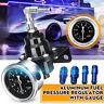 Black Car Fuel Pressure Regulator Universal Adjustable Aluminum With Gauge kit